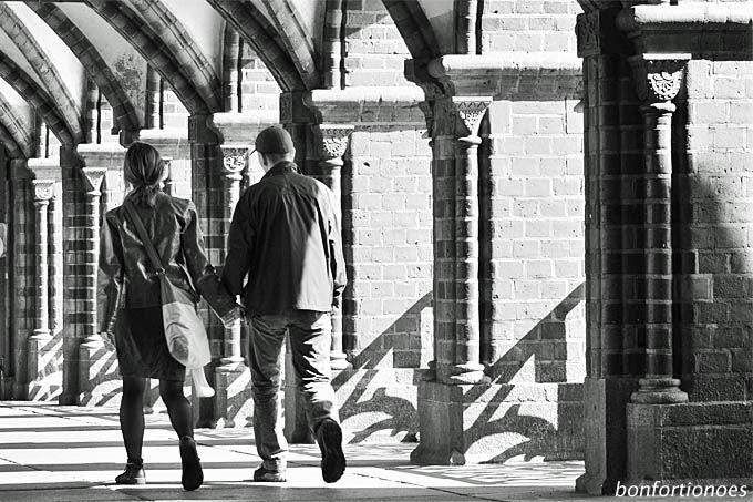 Paar auf der Oberbaumbrücke