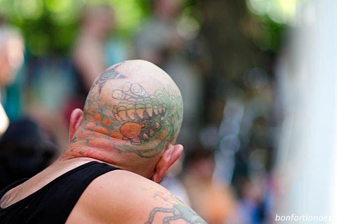 Grünes-Monster-Tattoo